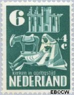 Nederland NL 558  1950 Kerken in Oorlogstijd 6+4 cent  Gestempeld