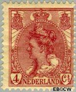 Nederland NL 58  1921 Koningin Wilhelmina- 'Bontkraag' 4 cent  Gestempeld