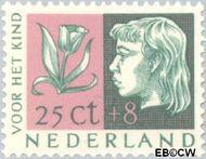 Nederland NL 616  1953 Kinderhoofden 25+8 cent  Gestempeld