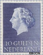 Nederland NL 640  1957 Koningin Juliana- Type 'En Profile' 1000 cent  Gestempeld