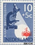Nederland NL 664  1955 Kankerbestrijding 10+5 cent  Gestempeld