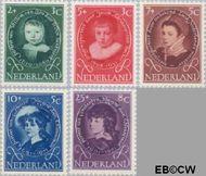 Nederland NL 666#670  1955 Kinderportretten  cent  Postfris