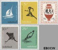 Nederland NL 676#680  1956 Olympische Spelen- Melbourne   cent  Gestempeld