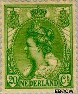 Nederland NL 68  1899 Koningin Wilhelmina- 'Bontkraag' 20 cent  Gestempeld