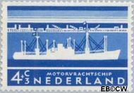 Nederland NL 688  1957 Schepen 4+3 cent  Gestempeld