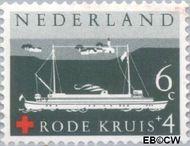 Nederland NL 696  1957 Rode Kruis 6+4 cent  Gestempeld