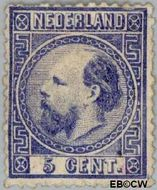 Nederland NL 7  1867 Koning Willem III- 3e emissie 5 cent  Gestempeld