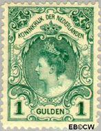 Nederland NL 77  1899 Koningin Wilhelmina- 'Bontkraag' 100 cent  Gestempeld