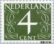 Nederland NL 774  1962 Cijfer- Proef fluorescentie 4 cent  Gestempeld