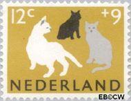 Nederland NL 814  1964 Dieren 12+9 cent  Gestempeld