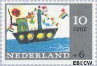 Nederland NL 850  1965 Kindertekeningen 10+6 cent  Gestempeld