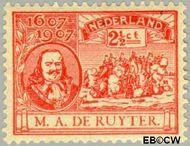 Nederland NL 89  1907 Ruyter, M.A. De 2½ cent  Gestempeld