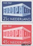 Nederland NL 925#926  1969 C.E.P.T.- Gebouw  cent  Gestempeld