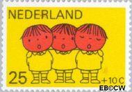 Nederland NL 935  1969 Kind en muziek 25+10 cent  Gestempeld