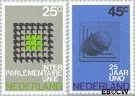 Nederland NL 973#974  1970 I.P.U. en U.N.O.  cent  Gestempeld