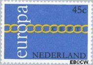 Nederland NL 991  1971 C.E.P.T.- Schakels 45 cent  Gestempeld