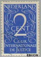 Nederland NL D25  1950 Cour Internationale de Justice 2 cent  Gestempeld
