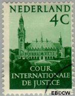 Nederland NL D29  1951 Cour Internationale de Justice 4 cent  Gestempeld