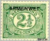 Nederland NL D4  1913 Armenwet 2½ cent  Gestempeld