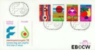 Nederland NL E116  1972 Floriade en Holland festival  cent  FDC zonder adres
