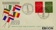Nederland NL E39  1959 C.E.P.T.- Ketting   cent  FDC zonder adres