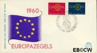 Nederland NL E45  1960 C.E.P.T.- Spaakwiel   cent  FDC zonder adres