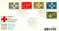 Nederland NL E86  1967 Rode Kruis  cent  FDC zonder adres