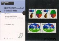 Nederland NL M114  1993 Post  cent  Postfris