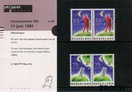 Nederland NL M85  1991 C.E.P.T.- Europese ruimtevaart  cent  Postfris