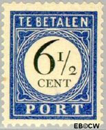 Nederland NL P20  1907 Portzegel 6½ cent  Gestempeld