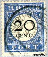 Nederland NL P25  1894 Portzegel 20 cent  Gestempeld