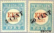Nederland NL P27#P28  1906 Portzegel  cent  Gestempeld