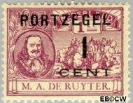 Nederland NL P32  1907 Portzegel 1 op 1 cent  Gestempeld