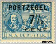 Nederland NL P37  1907 Portzegel 7½ op ½ cent  Gestempeld