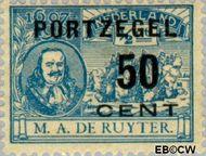 Nederland NL P42  1907 Portzegel 50 op ½ cent  Gestempeld