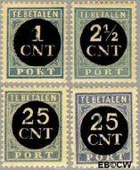 Nederland NL P61#P64  1923 Portzegel  cent  Gestempeld