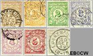 Nederland NL PW1#PW7  1884 Gebruik op postbewijsformulieren  cent  Gestempeld