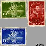Nederlandse Antillen NA 206#208  1949 Ontdekking  cent  Ongebruikt