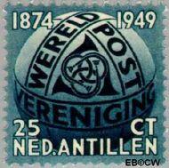 Nederlandse Antillen NA 210  1949 Wereldpostvereniging 25 cent  Gestempeld