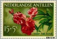 Nederlandse Antillen NA 250  1955 Bloemen 15+5 cent  Gestempeld