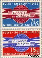 Nederlandse Antillen NA 291#292  1958 Landsradio  cent  Gestempeld