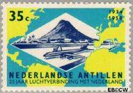 Nederlandse Antillen NA 310  1959 Luchtverbinding Nederland 35 cent  Gestempeld