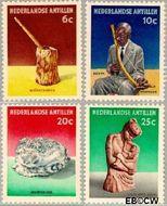 Nederlandse Antillen NA 325#328  1962 Voorwerpen  cent  Gestempeld