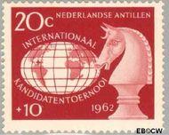 Nederlandse Antillen NA 331  1962 Kandidatentoernooi schaken 20+10 cent  Gestempeld