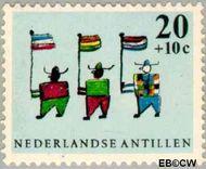 Nederlandse Antillen NA 341  1963 Kindertekeningen 20+10 cent  Gestempeld
