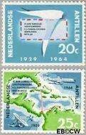 Nederlandse Antillen NA 345#346  1964 Luchtverbinding  cent  Gestempeld