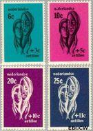 Nederlandse Antillen NA 385#388  1967 Sociaal en cultureel werk 25+11 cent  Gestempeld