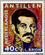 Nederlandse Antillen NA 441  1971 Pedro Luis Brion 40 cent  Gestempeld