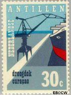 Nederlandse Antillen NA 451  1972 Ingebruikname droogdok 30 cent  Gestempeld