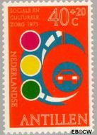 Nederlandse Antillen NA 471  1973 Veilig verkeer 40+20 cent  Gestempeld